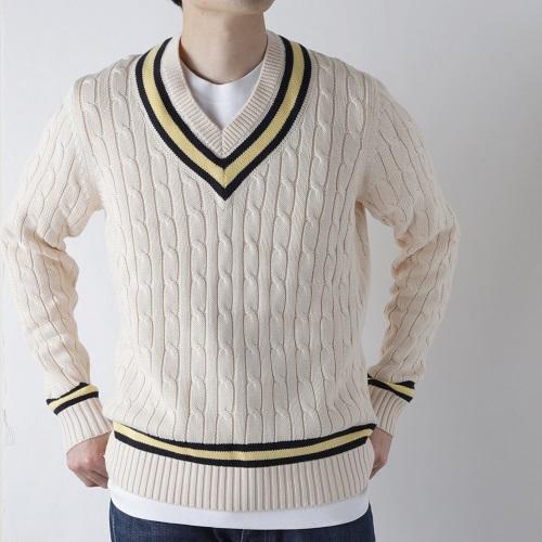プレッピースタイル!【クリケットセーター】