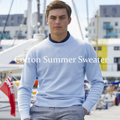 Cotton Summer Sweater.
